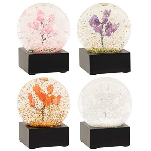 CoolSnowGlobes Vier Jahreszeiten Winter Frühling Sommer Herbst Set aus Vier Mini-Schneekugeln