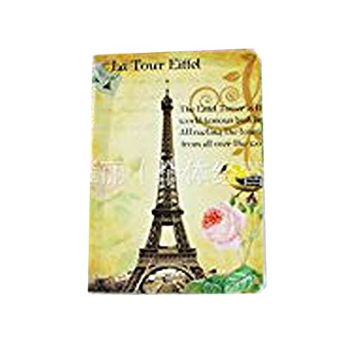 Happy Star® Vintage Style Paris Holiday Eiffel Tower Cute Passport Cover Travel ID Holder Wallet Protector Case (Yellow)
