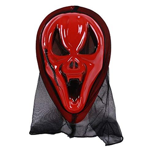 8Eninine Halloween Kostüm Zubehör für Erwachsene Adult Halloween Horror Face Mask - Red Centipede