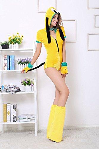 Rave Kostüm Tier - Gorgeous Disney Halloween-Cosplay gelb Welpen Frack Tier rave Kleidung