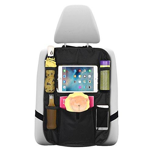 Preisvergleich Produktbild OMORC Auto Organizer mit Halterung für iPad Tablet Touch Screen Holder,  Multi-Tasche für Flaschen,  Taschentücher,  Spielzeug und großes Reisezubehör für Kinder,  Rückfahrmatte