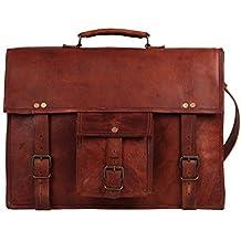 Rustic Town alta qualità fatto a mano Borsa in cuoio a tracolla Vera Pelle Cartella in pelle Notebook Bag in pelle Stile vintage e antiquariato Per uomini e donne Un regalo da artigiano indiano.