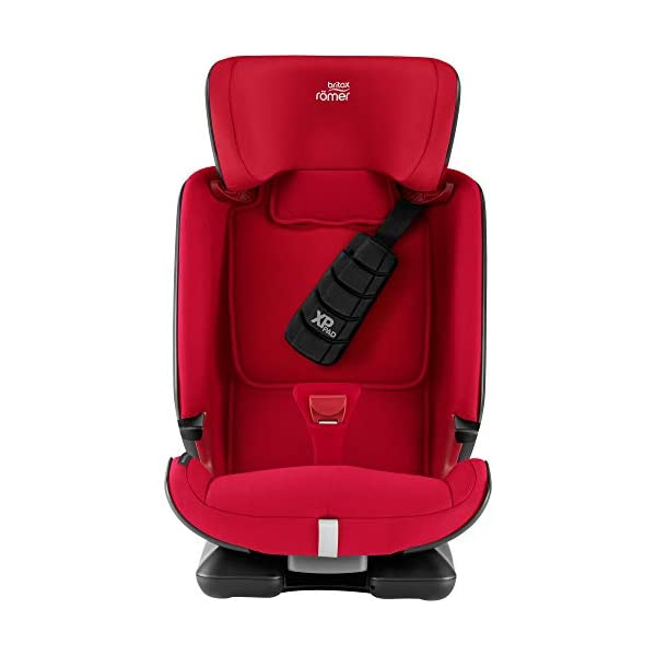 Britax Römer car seat 9-36 kg, ADVANSAFIX Z-LINE Isofix Group 1/2/3, Fire Red Britax Römer Made in germany Flip & grow - change from buckle to secureguard Excellent security concept - with xp-pad, secureguard and pivot link isofix system 3