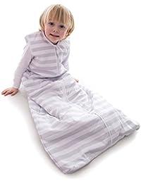 Snoozebag, saco de dormir unisex con cremallera frontal para bebé, diseño de rayas grises, 100 % algodón, grado de aislamiento térmico 2,5