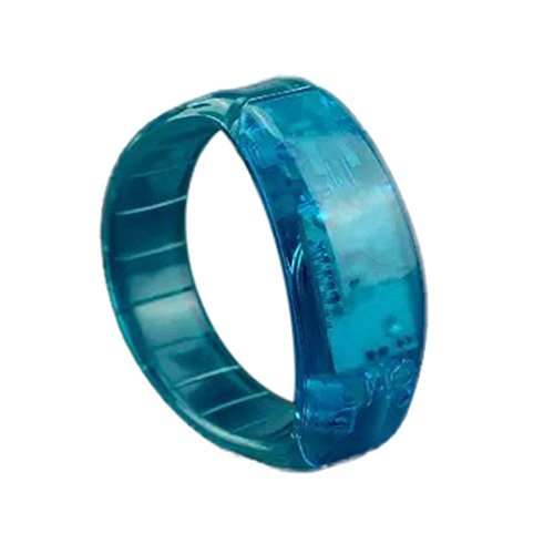 Gaddrt Voice Control Sound kontrolliertes LED-Licht Armband Bangle Glow Flash-Armreif To aktivierte glüht Party Rave-Konzert (blau) (Glow Blau Armbänder)