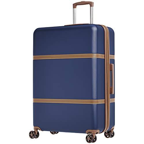 Amazonbasics - trolley rigido vienna, 78 cm, blu marino
