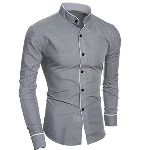 6870793f3801 Pingtr Men's Shirt, Bamboo Fiber Dress Shirts For Men Slim Fit Solid Long  Sleeve Casual Button Down Shirts, Elastic Formal Shirts For Men,Turn-Down  Collar ...