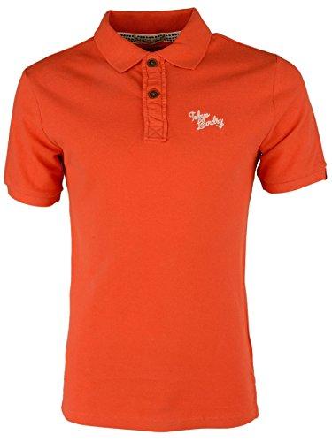 Tokyo Laundry 'Penn State' Herren Einfarbig Pique Poloshirt Paprika