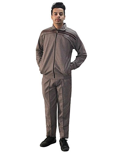 Matelco Men's Brown Cotton Blend Track Suit L