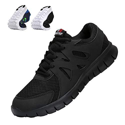 asual Laufschuhe Leichte Gym Sneakers Fitness Turnschuhe männer Mesh Sport Schuhe Schwarz ()