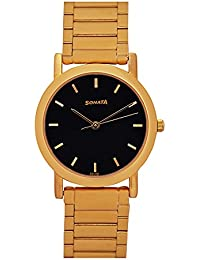 SONATA Gh54 Glod Plated Analog Watch -For Watch