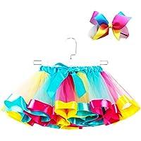 FENICAL Vestido de Falda de tutú para niñas con Conjunto de Sombreros de Bowknot para Halloween Fiesta de Navidad tamaño L