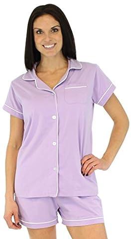 Sleepyheads Ladies Cotton Short Sleeve Button Front Pyjamas Shorts Sleepwear Set