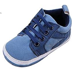 Tefamore Zapatos Niños Unisex De Suela Blanda Skid-proof Para Lindo bebés (Tamaño:12, Azul claro)