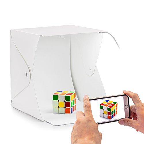 Fotobox Set, Fotostudio Fotobox Set mit LED Leuchte 22 x 22 x24cm