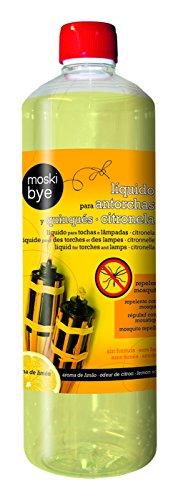 Flower 20551 20551-Liquido para antorchas y quinqués citronela, No No Aplica 7.5x7.5x25.5...