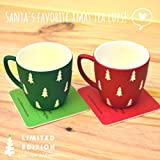 STALLION BARWARE Plastic Christmas Unbreakable Tea Cups (Red and Green, 150 ml) Set of 2