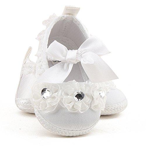 ... da Culla Neonato Bianco Primi Passi Scarpe Neonata Ballerine Pantofole  Morbide Bimba (Scarpe Bavaglini 8b4e95962fd