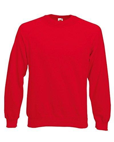 Fruit Of The Loom Kids Childrens Raglan Style Sweatshirt Red 9-11 Years