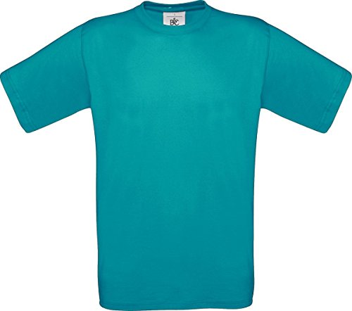 B & C Herren Casual Wear Short Sleeve Crew Neck Baumwolle Tees TOP SHIRT Exact 150 - Real Turquoise