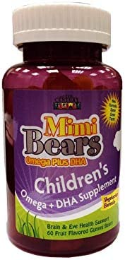 21st Century Mimi Bears Omega Plus DHA Chew - 60 Tablets