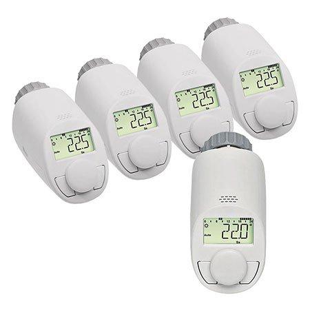 5er-Set Typ N Elektronik-Heizkörper-Thermostat mit Boost-Funktion, bis zu 30 {4de0b1d3eed1b00c4265747f63f924cc4baf75890410e5f10f04e5f59b3ef79d} Heizkostenersparnis