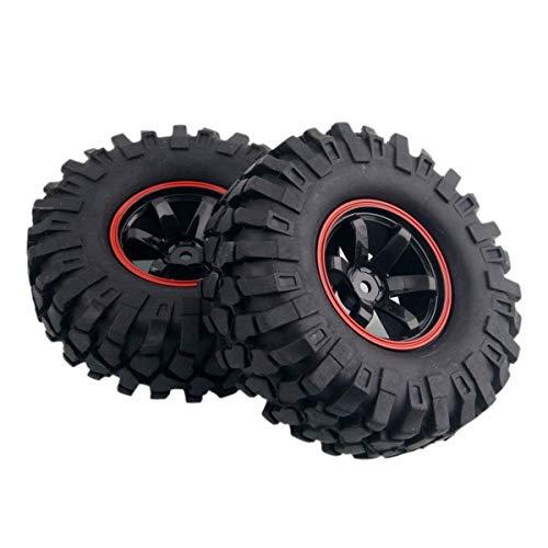 Yosoo 4 x 01:10 RC Buggy Truggy Reifen Plastik Rad Gummi Felgen HSP für RC Climbing Car Racing 701A-7006L