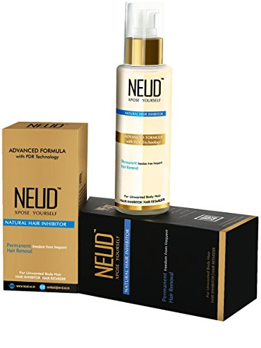 Neud Natural Hair Inhibitor For Permanent Hair Reduction Pack Of -1
