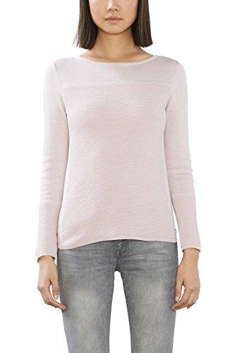 edc by ESPRIT Damen 996CC1I907 Pullover, Rosa (Pastel Pink 695), 36 (Herstellergröße: S) (Baumwolle Pullover Rosa)