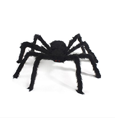 Halloween Black Large Spider Peluche Jouet Haunted Plush Spider Scary Decoration Haunted House Prop Indoor Outdoor Yard ( Size : 75 cm )