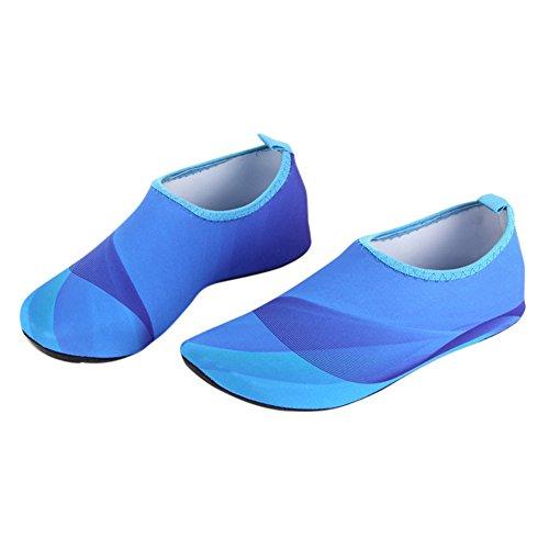MORESAVE Wassersport Schuhe Strand Pool Tanz Schwimmen Surf Yoga Schuhe Stiefel für Damen Herren Blau