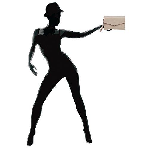 CASPAR Fashion - Borsetta senza manici donna Rosa (rosa)