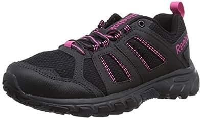 Reebok  DMX Ride Comfort RS 2.0, Chaussures de marche mixte adulte - Noir - Schwarz (Black/Gravel/Graphite/Pink/Foggy Grey), 35 EU
