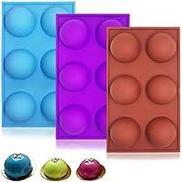 YuCool - Moldes de silicona redondos con 6 cavidades para decoración de pasteles, pan,