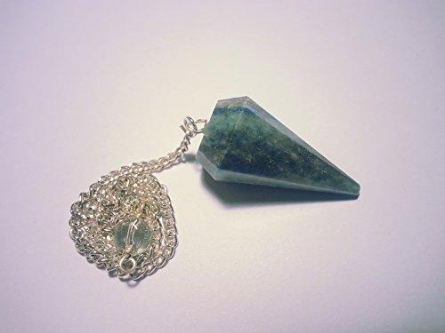 Pendolo gemma / pietra preziosa ametista cristallo di rocca ed altre sorte (sodalite)