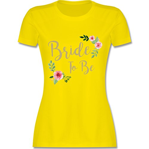 JGA Junggesellinnenabschied - Bride to Be - XL - Lemon Gelb - L191 - Damen Tshirt und Frauen (Penis In Den Kostümen)