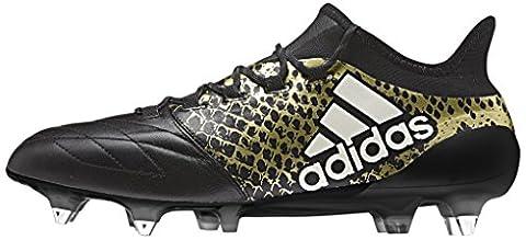 adidas Herren X 16.1 Sg Leather Fußball-Trainingsschuhe, Multicolore (Cblack/Ftwwht/Goldmt), 42