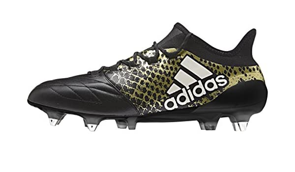 check out e8095 2e9c4 Adidas X 161 SG Leather Chaussures de Football Homme Multico