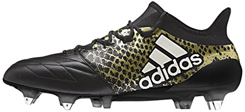 adidas Herren X 16.1 Sg Leather Fußball-Trainingsschuhe Multicolore (Cblack/Ftwwht/Goldmt)
