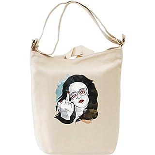 Fuck Off Canvas Day Bag  100% Premium Cotton Canvas  DTG Printing  Unique Handbags, Briefcases, Sacks & Custom Fashion Accessories For Men & Women