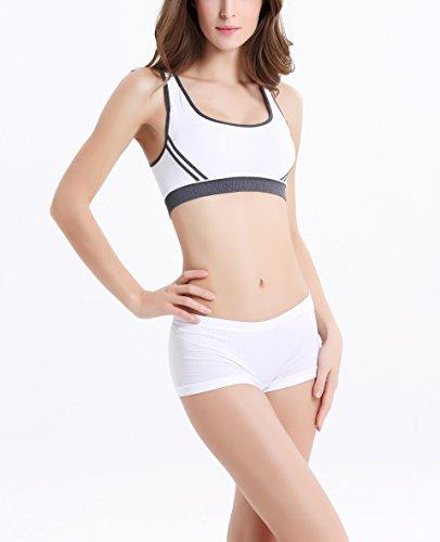 COCO TOE® Frauen Gepolsterter BH sportliche Weste Yoga Stretch Sport-BH White