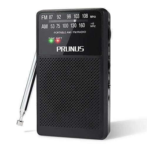 PRUNUS ANJAN-A-166 Tragbares Taschen UKW FM/AM(MW) DSP Transistor Radio, hervorragender Empfang, Drehregler mit Signalanzeige. Unterstützt austauschbare Batterien (AA)