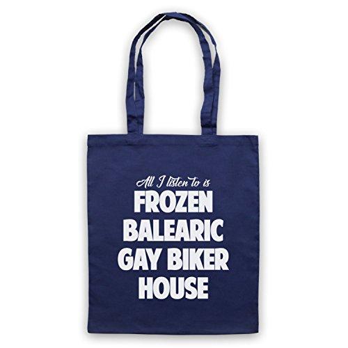 Frozen Balearic Gay Biker House Niche Dance Music Umhangetaschen Ultramarinblau