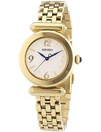 Seiko Damen-Armbanduhr XS Damenuhren Analog Quarz Edelstahl beschichtet SRZ404P1