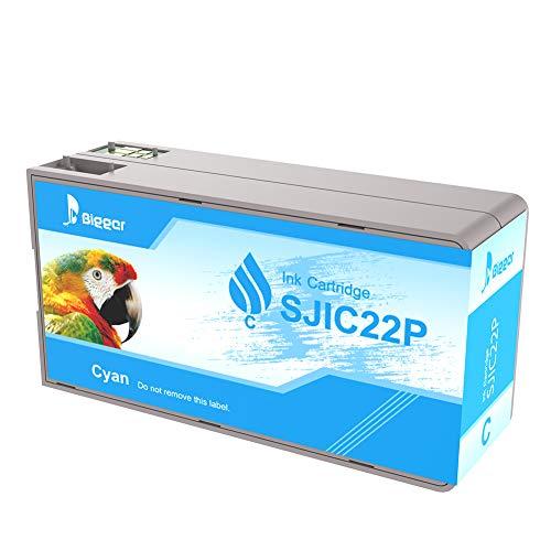 Ricambio più grande per Epson Tm-c3500, SJIC22P (C) inchiostro nero compatibile con Epson Color Works C3500 Pigment Colour Serial Label Inkjet Printer (1ciano)