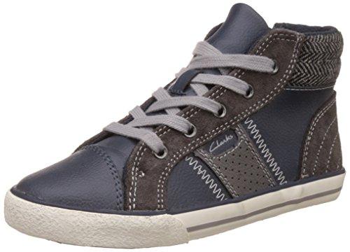 Clarks Boy's Blue Leather First Walking Shoes - 12.5 kids UK/India (31 EU)