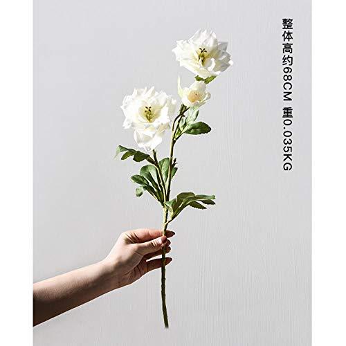 Deendeng vaso vaso in vetro dorato fiori secchi vaso per fiori decorazione-singolo fiore-bianco vaso cristal