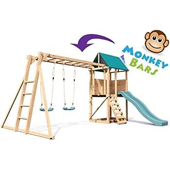 Monkey Bars Climbing Frame Pressure Treated Playhouse Wave