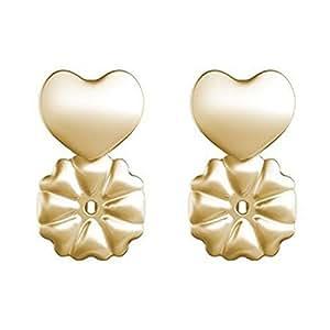 Zooarts Magic - Ferma orecchini, anallergici, adatti a qualsiasi orecchino, mantengono l'equilibrio dell'orecchino davanti e dietro., colore: 1Pair 18K Gold, cod. 060