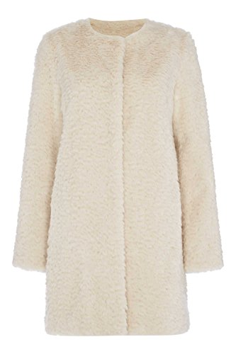 Roman Originals Women's Textured Faux Fur Coat
